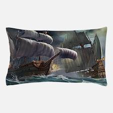 Battle Between Ships Pillow Case
