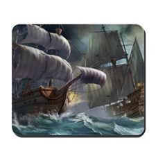 Battle Between Ships Mousepad