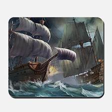Battle Between Ships Mousepad