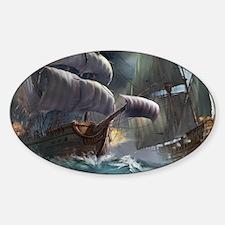 Battle Between Ships Decal
