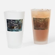 Battle Between Ships Drinking Glass