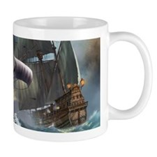Battle Between Ships Mugs