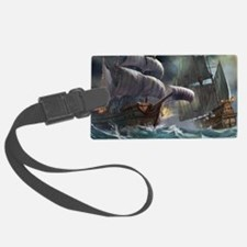 Battle Between Ships Luggage Tag