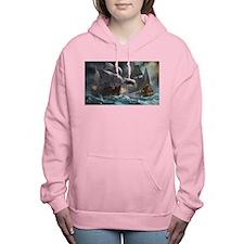 Battle Between Ships Women's Hooded Sweatshirt