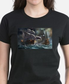 Battle Between Ships T-Shirt