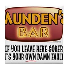 Munden's Bar Sober Alt. Tile Coaster