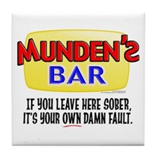 Munden's Bar Sober Tile Coaster