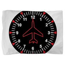 Heading Indicator Clock Pillow Sham