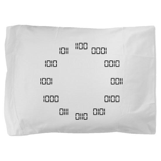 Binary Clock Pillow Sham