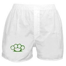 Green Brass Knuckles Boxer Shorts
