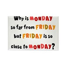 WHY IS FRIDAY SO CLOSE TO MONDAY Rectangle Magnet