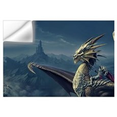 Warrior Riding Dragon Wall Decal