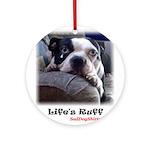 SAD-DOG Ornament (Round), SUPER CUTE