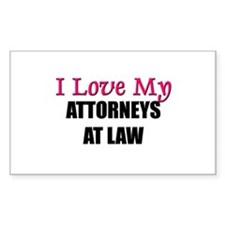 I Love My ATTORNEYS AT LAW Rectangle Decal