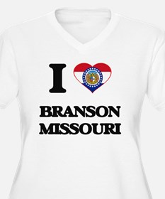 I love Branso Plus Size T-Shirt