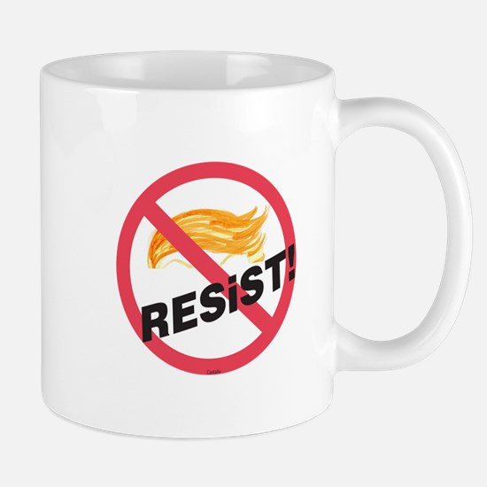 The Official No Trump Zone Resist! Sign Mugs