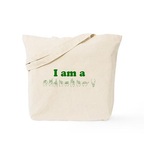 Green Christian Tote Bag