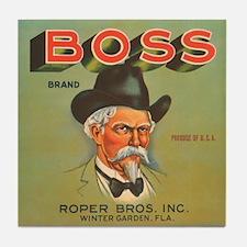 Boss Vintage Crate Label Tile Coaster
