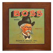 Boss Vintage Crate Label Framed Tile