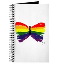 Artistic Gay Pride Butterfly Journal