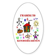 I'm Going to Kindergarten Oval Decal