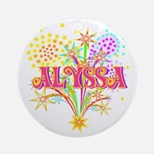 Sparkle Celebration Alyssa Ornament (Round)