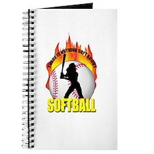 Cute Softball girl Journal