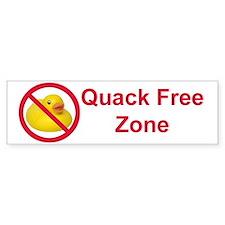 Quack Free Zone Bumper Bumper Sticker