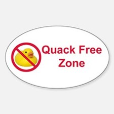 Quack Free Zone Oval Decal