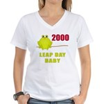 2000 Leap Year Baby Women's V-Neck T-Shirt