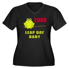 2000 Leap Year Baby Women's Plus Size V-Neck Dark