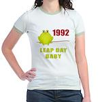1992 Leap Year Baby Jr. Ringer T-Shirt
