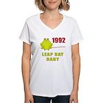 1992 Leap Year Baby Women's V-Neck T-Shirt