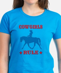Red & Blue Cowgirls Rule Tee