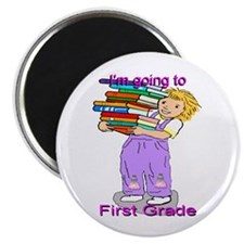 "I'm Going to First Grade (girl) 2.25"" Magnet (10 p"