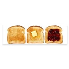 3 Pieces of Toast Bumper Bumper Sticker