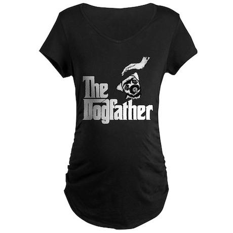 Border Terrier Maternity Dark T-Shirt
