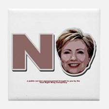 No Hillary Tile Coaster