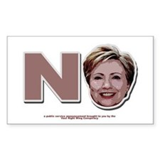 No Hillary Rectangle Decal