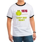 1976 Leap Year Baby Ringer T