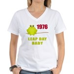 1976 Leap Year Baby Women's V-Neck T-Shirt