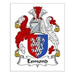 Esmond Family Crest Small Poster