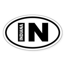 Indiana Oval Decal