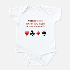 duplicate bridge gifts Infant Bodysuit