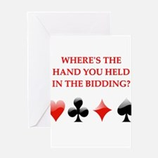 duplicate bridge gifts Greeting Card