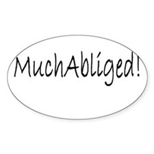 MuchAbliged Oval Decal