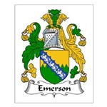 Emerson Family Crest Small Poster