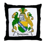 Emerson Family Crest Throw Pillow