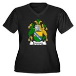 Emerson Family Crest Women's Plus Size V-Neck Dark