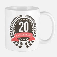 20 Years Anniversary Laurel Badge Mug